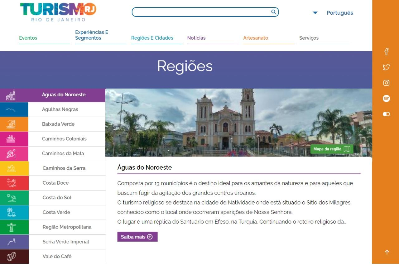 Setur-RJ lança portal com atrativos, hospedagem e gastronomia dos 92 municípios