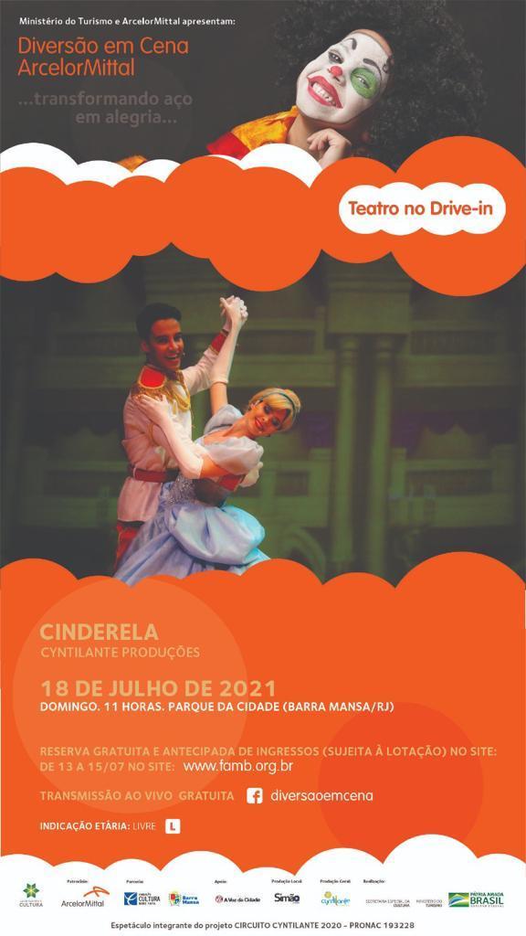Fundação Cultura Barra Mansa e ArcelorMittal promovem teatro drive-in no Parque da Cidade