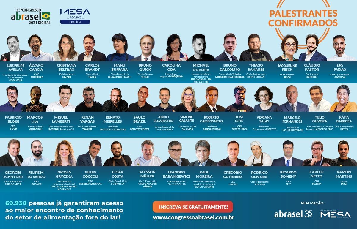 Associação Brasileira de Bares e Restaurantes realiza 33º Congresso Nacional, reunindo mais de 70 palestrantes