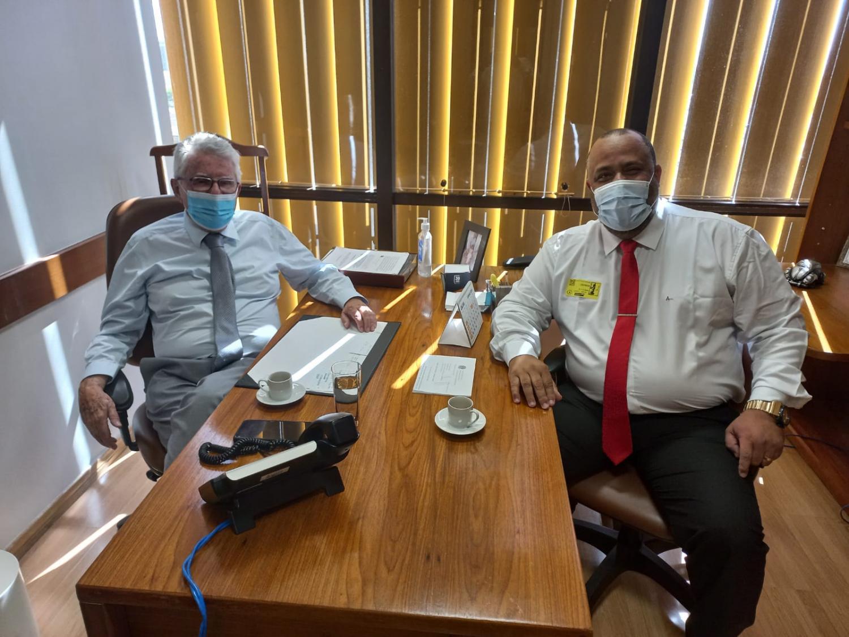 Deputado federal Luiz Antônio recebe prefeito de Mendes em Brasília e confirma emenda de R$ 200 mil para o município
